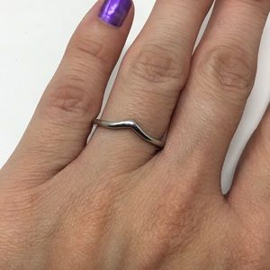 Silver Plated Curved Band Ring